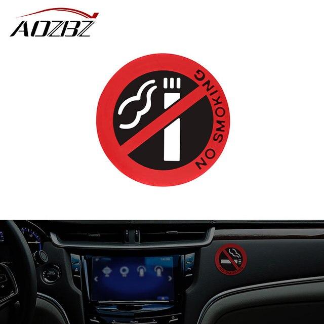 Onever Auto Styling Kleber Aufkleber Fur Ford Vw Peugeot Warnung Nicht Rauchen Logo