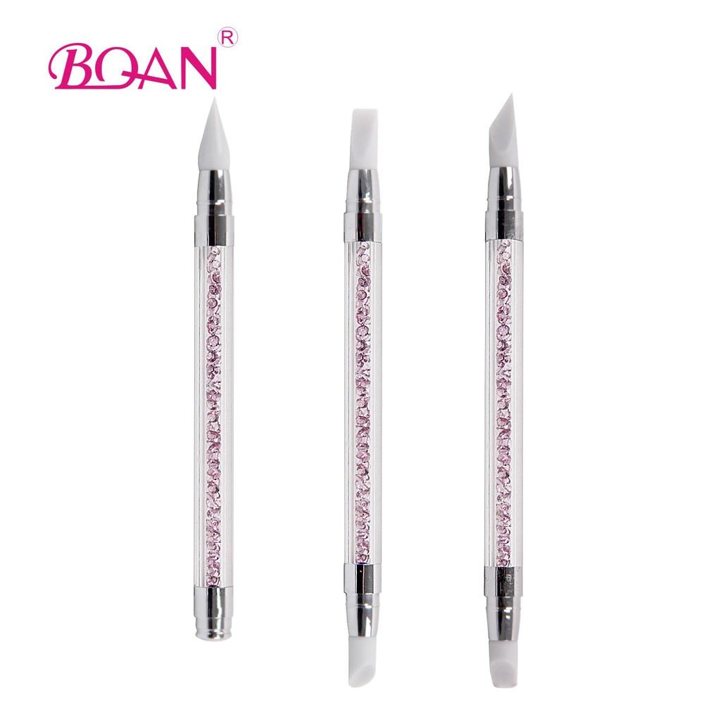 BQAN 2015 Cepillo de cabeza de silicona y mango acrílico con - Arte de uñas - foto 1