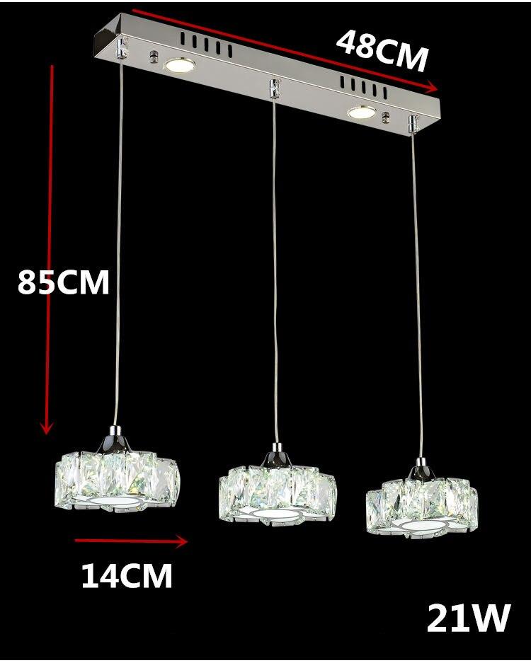 Простой светодиодный хрустальный канделябр для ресторана светодиодный светильник из нержавеющей стали светодиодный канделябр мощный светодиодный светильник - Цвет абажура: Зеленый