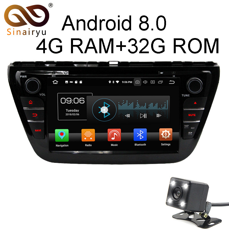 Android 8 0 8 Core 4G RAM Car DVD GPS For SUZUKI SX4 S CROSS 2014
