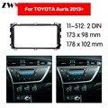 Автомобильный dvd-плеер рамка для 2013 + TOYOTA AURIS UV черный авто радио мультимедиа NAVI fascia