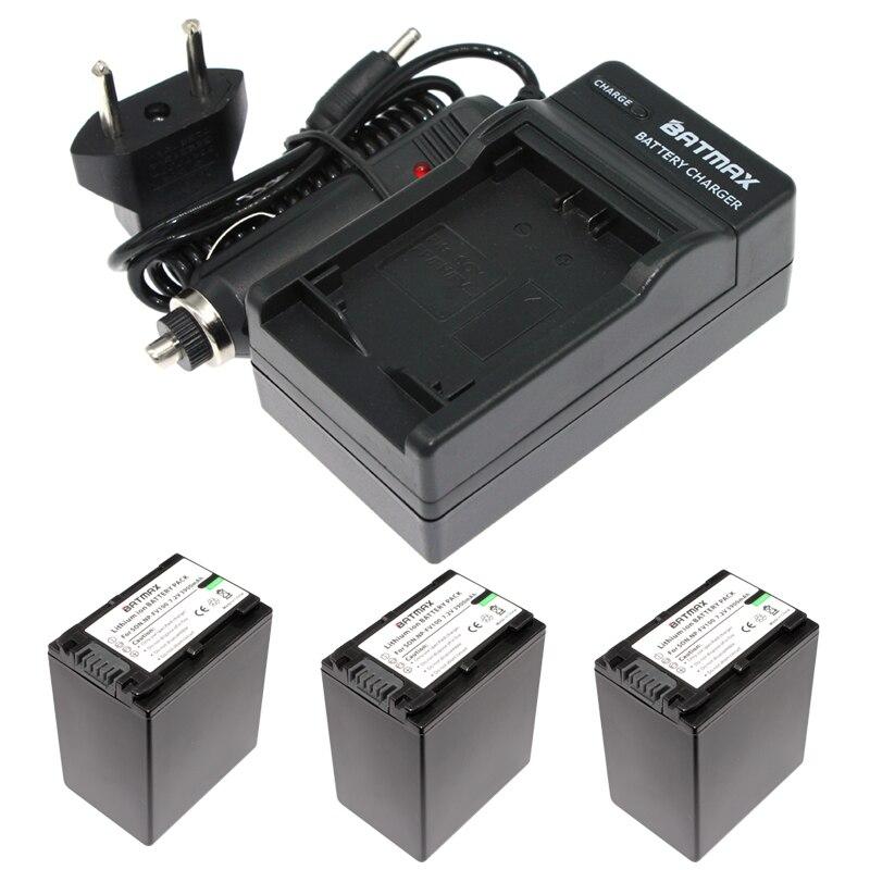 3Pcs 3900mAh NP-FV100 NP FV100 NPFV100 li-ion Batteries+Charger Kit for SONY XR150E CX550E CX350E CX150E NP-FV70 FV50 z1 sony xr m510 в новокузнецке