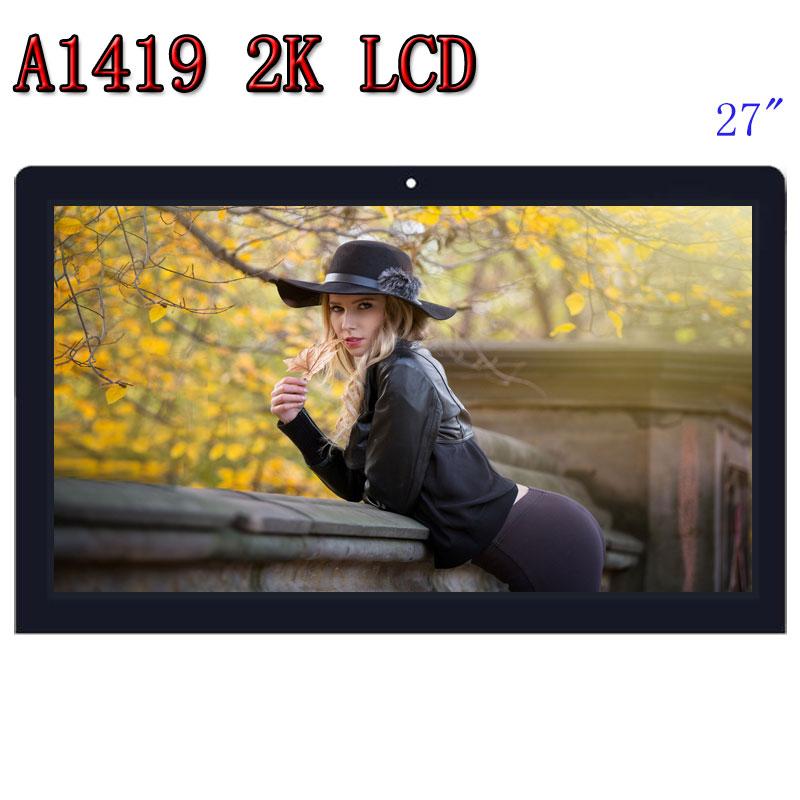 Gran venta Orignal A1419 2 K pantalla LCD con montaje de vidrio LM270WQ1 SD F1 F2 para iMac 27 tarde 2012 de 2013 MD095 ME088 EMC 2546 de 2639