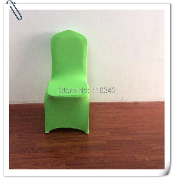 Vente Chaude Livraison Rapide 50 Pcs Lycra Couverture De Chaise Vert Pomme Banquet Couvre Pour Les Mariages Gratuite Marious