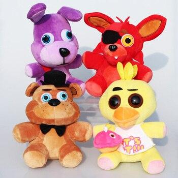 25 cm 10 polegada FNAF 4 Brinquedo das Cinco Noites No Freddy Freddy Fazbear Urso bonnie foxy bichos de Pelúcia Plush brinquedos Boneca