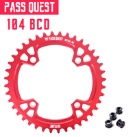 Round 104BCD 32T/34T/36T/38T/40T/42T/44T/46T/48T Cycling Chainring MTB Bike Chainwheel Crankset Plate BCD 104mm