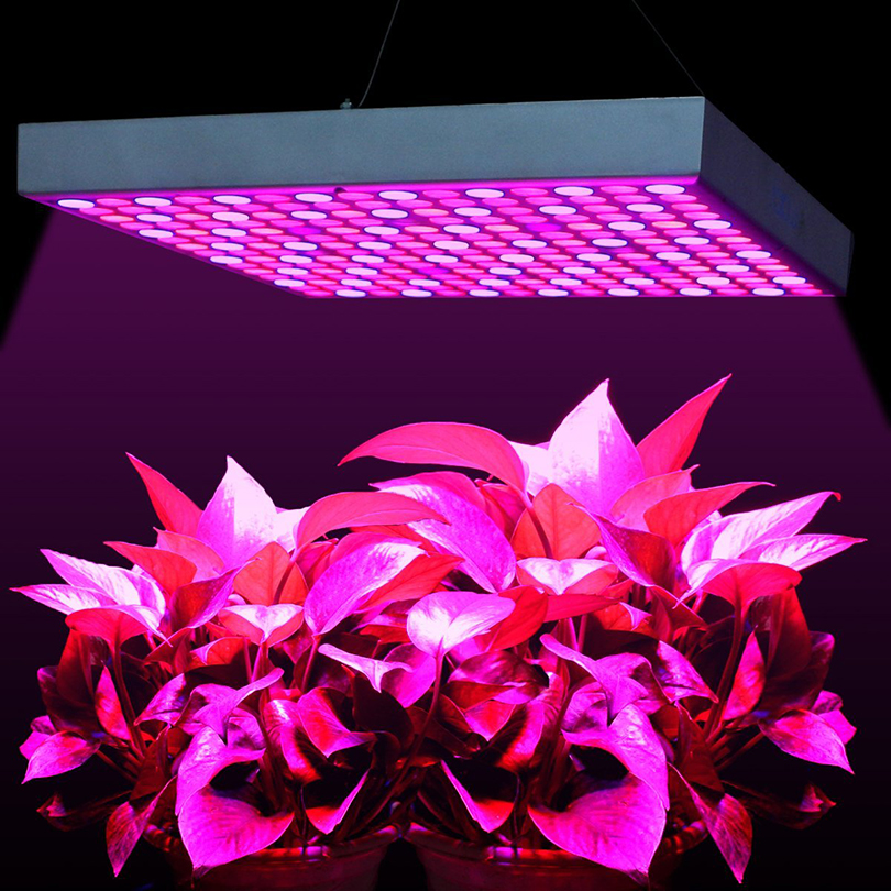 Full Spectrum 45W Panel LED Grow Light AC85~265V UV IR 225 LEDs Hang Lamp LED Plant Grow Light for Indoor Plant Flowering Growth 216w ufo led grow light 72x3w full spectrum ac85 265v hydroponics plant lamp ideal all phases of plant growth and flowering bj