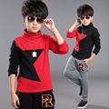 Boys Thicken Sweatshirts Cotton Turtleneck T-Shirts For Boys Kids Clothes Spring Autumn Teenagers Blouses 4 6 8 10 12 14 Years