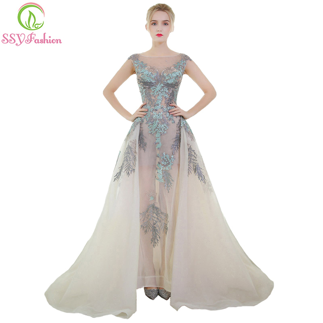 Ssyfashion New High End Luxury Prom Dress The Bride Banquet Romantic