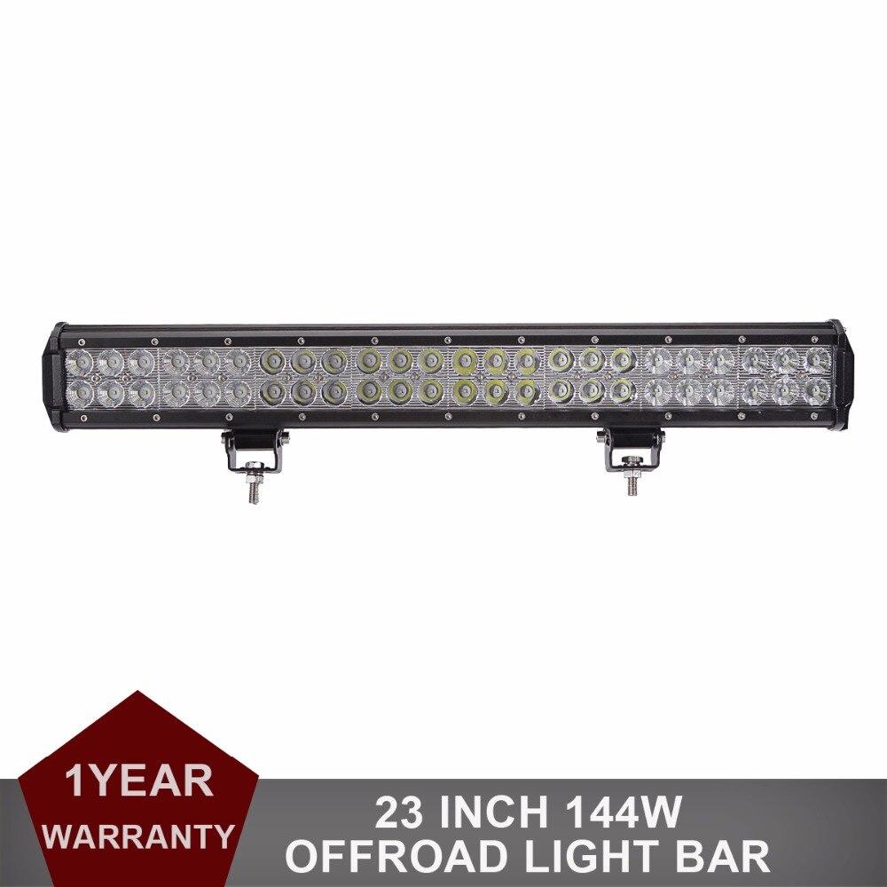 ФОТО 23'' 144W Offroad LED Light Bar Combo 12v 24v Auto Car SUV Truck Auto Trailer Pickup Wagon 4WD AWD 4X4 UTV UTE Driving Headlight