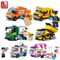 Blocos de construção Da Cidade Casa Lanche Carro TV Express ônibus escolar Caminhão Da Polícia Tijolo Brinquedo meninas Compatível Legoe