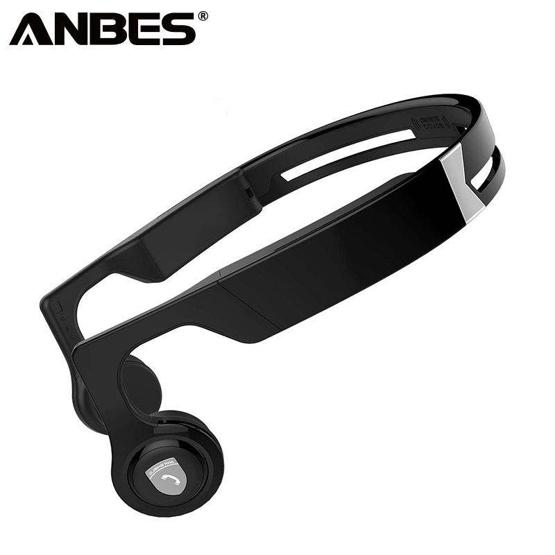 ANBES Bone Conduction Headphones Wireless Sport Bluetooth Stereo Earphone Sports Headset With Microphone for Xiaomi iphone