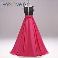 Prawdziwe Zdjęcia Czarne Kryształy Linia Hot Pink Prom Dresses szata błyskotka Vestido de festia rhinestone Sexy Prom suknie gwons