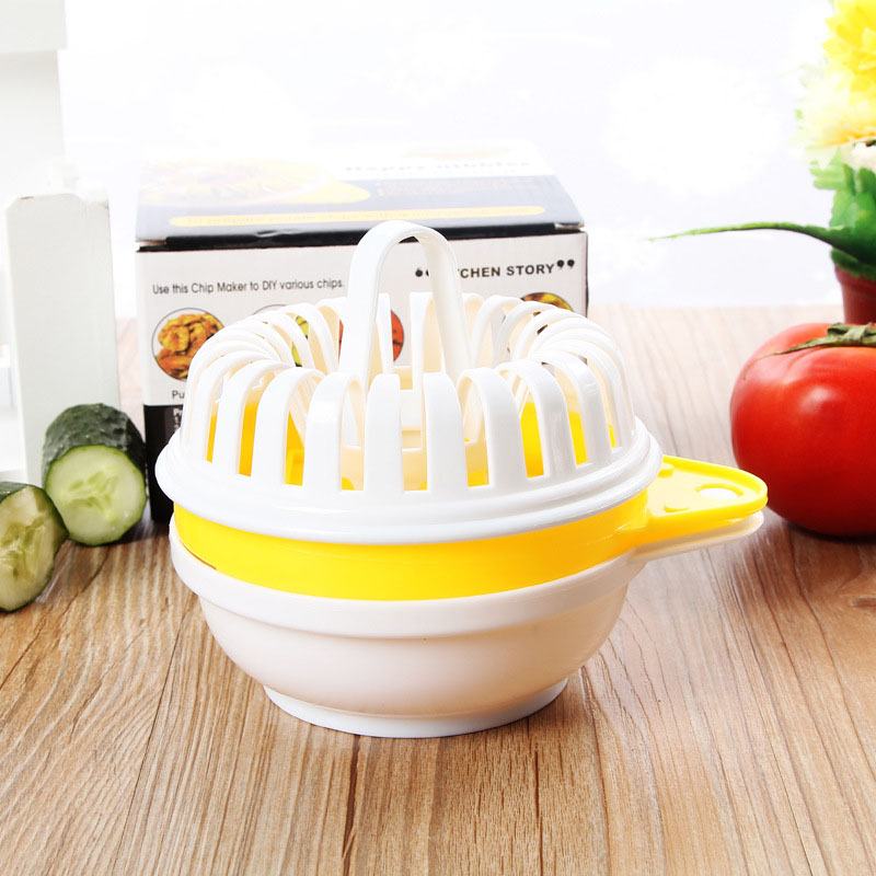 Creative Cooking Tool Microwave Vegetables Fruit Potato Crisp Chip Slicer Maker Diy Complete Set Kitchen Gadgets In Shredders Slicers From Home Garden