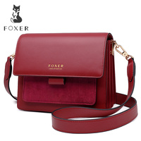 FOXER Women Crossbody Bag Shoulder Strap Bags Woman Shoulder Bag Lady Flap Female Messenger Bag Valentine's Day Present Gift
