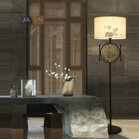led e27 Chinese Iron Fabric Golden Lotus LED Lamp LED Light LED Floor Lamp Floor Light For Dinning Room Bedroom