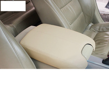 lsrtw2017 fiber leather compose abs car armrest cover for honda accord 2008 2009 2010 2011 2012 2013 8th
