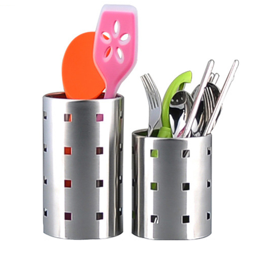 new ecofriendly stainless steel tableware holder box spoon chopsticks storage container kitchen tool