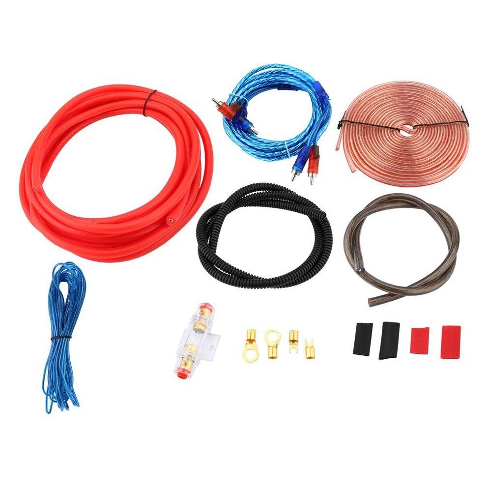 Professional 2300W 4 Gauge Amp Kit Amplifier Install Wiring & 2.5 Farad Digital Capacitor Installation Wiring Wire