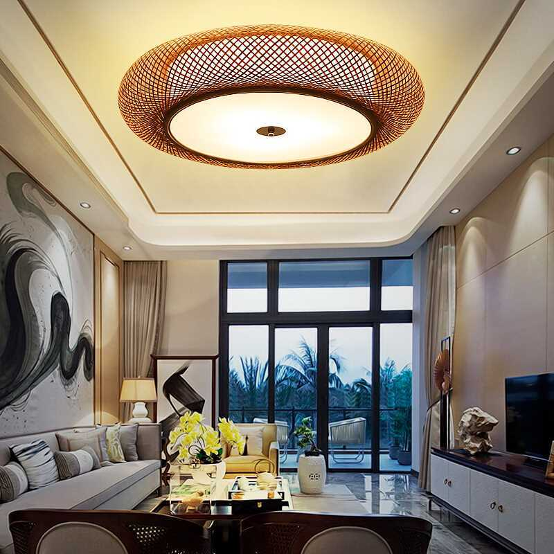 Modern Chinese style Round and Simple Creative Room Main Bedroom Living Room Warm and Romantic Bedroom