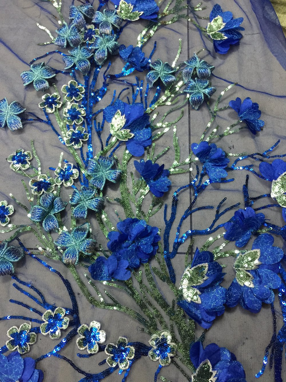 Sequins Embroidery Lace Fabric For Wedding Dressmesh Lace Royal