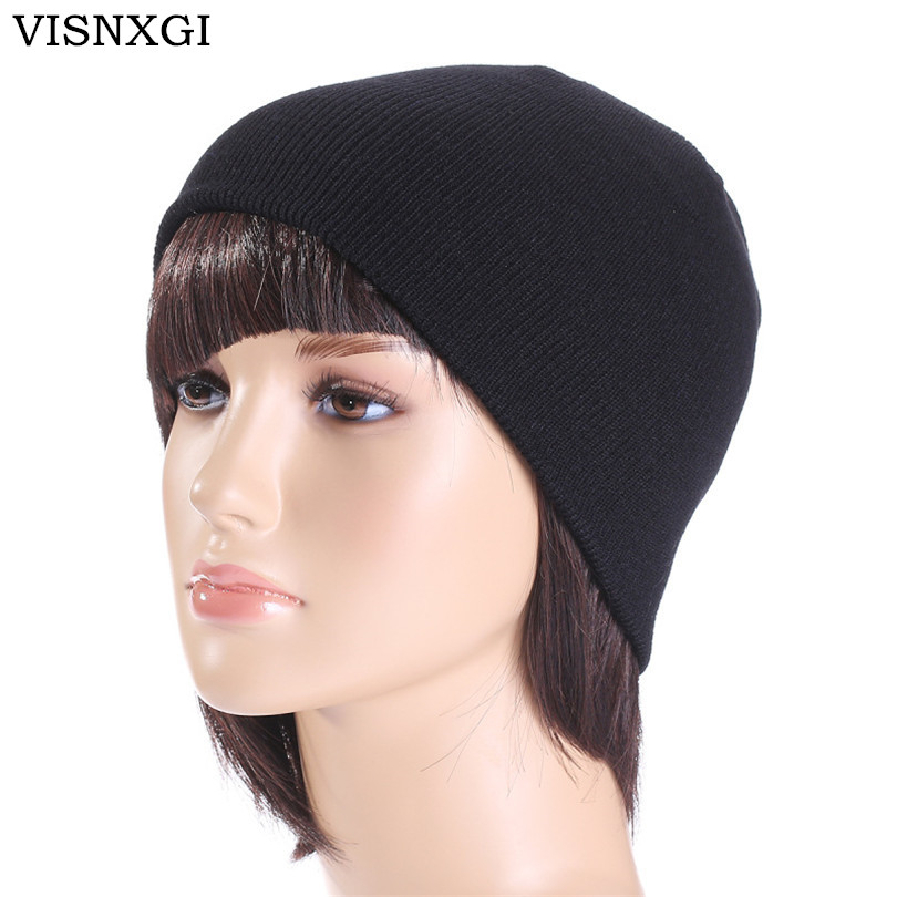 VISNXGI 2017 Winter Hats Solid Hat Female Unisex Plain Warm Soft Women's Skullies Beanies Knitted Touca Gorro Caps For Men Women 2017 unisex solid plain warm skullies beanies knitted touca gorro autumn winter caps hip hop slouch skullies for men women