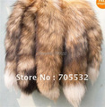 Amarillo Natural ( zorro rojo ) Tail Fox Fur llaveros Tassel Bag Handbag Purse accesorio pendiente keyring 16 ""