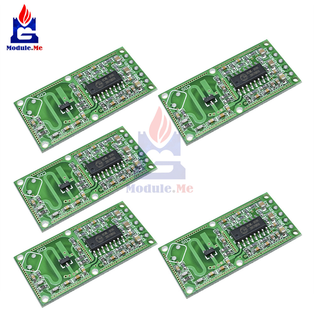 5PCS Microwave Radar Sensor Human Body Induction Switch Module With The Penetrating Detection Capability RCWL-0516 Output 3.3V