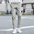2016 Autumn Winter Casual Trousers Mens Pants Cotton Solid Color Fashion Men Slim Fit Sweatpants Homme Brand Clothing LW185