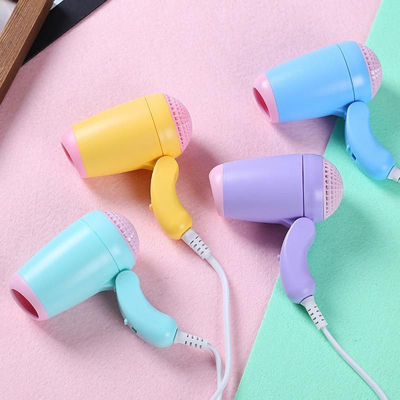 En moda 220 V mini secador de pelo plegable barato estudiante uso secador de pelo Utensilios para el pelo eléctrico pequeño secador de viaje 400 W