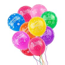 10pcs/lot 12 Inch Latex Balloons Funny Letter Printed Balloon for Happy Birthday Party Balloons(China)