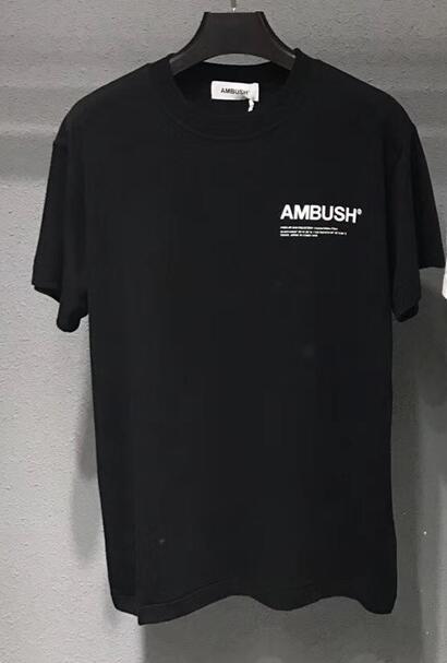AMBUSH T-shirt Wen 1:1 high Quality Solid 8 colour black white Khaki blue T shirts tees Hip Hop Summer Style AMBUSH T shirt