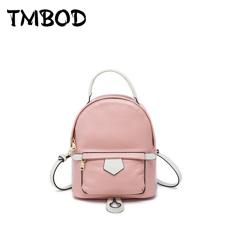 New 2017 Small Cute Backpack For Teenagers Women Genuine Leather Backpacks Girls Lady Student School Travel Bags bolsas an503 keenici small women leather backpack for girls feminine knapsack school bags for teenagers rucksack mini backpacks rivet black