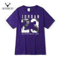 MCHAMCHI Number 23 Jordan Printed T Shirt Cotton Short Sleeve Couple Lover Design O Neck Tops