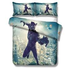 Black Panther Marvel Superhero Bedding Set Duvet Cover Comforter Bedding Sets 13 Size US AU GB Comforters Bedclothes Bed Linen стоимость