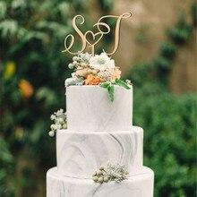 Оригинальные буквы на заказ, Топпер для торта, персонализированное имя, Свадебный Топпер для торта, деревенский Свадебный декор, свадебные подарки