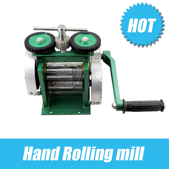 Hand Operate mini gold Rolling Mill , jewelry rolling mill with Maximum opening 0-5 mm