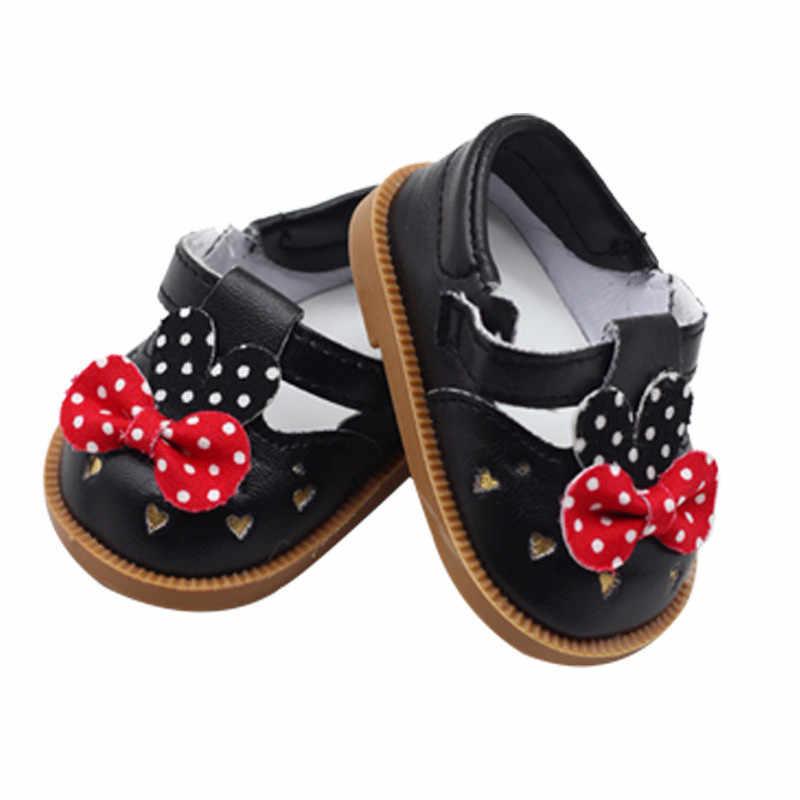 รองเท้าตุ๊กตาเด็กทารกสำหรับ 18 นิ้ว 43 ซม.Star รองเท้าและดอกไม้รองเท้าหนังชุดสำหรับทารกเทศกาลวันเกิดของขวัญ