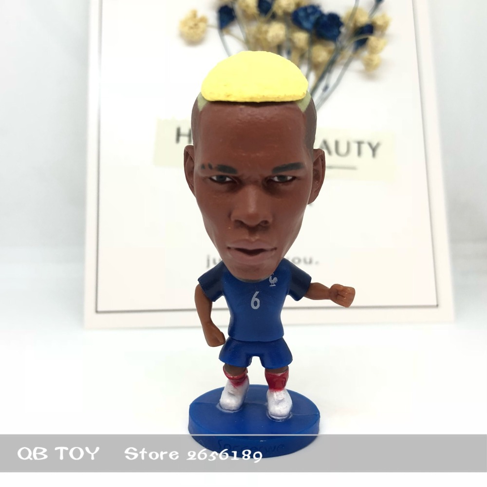 Soccer figure football stars Classic France Pogba# 16-17 Movable joints resin model toy action figure dolls collectiblegift