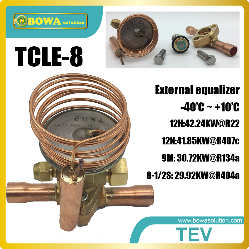 TEV controls the superheat and act as a throttle device between the high and low pressure sides of refrigeration & heat pump hvacr adjustable pressure controls espcailly installed in r410a refrigeration system and heat pump equipments