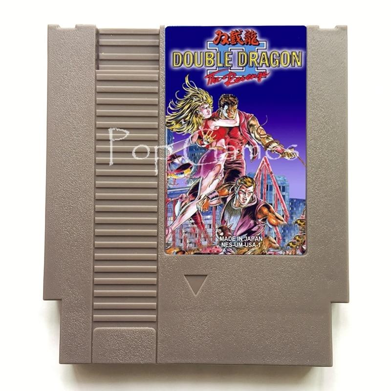 Double Dragon 2 72 Pin  Game Cartridge for 8 Bit Video Game Console Region Free English Language