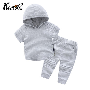 Kimocat Children's hoodie boys clothes short-sleeved cotton suit version of children's two-piece fall new children's lady bug 1