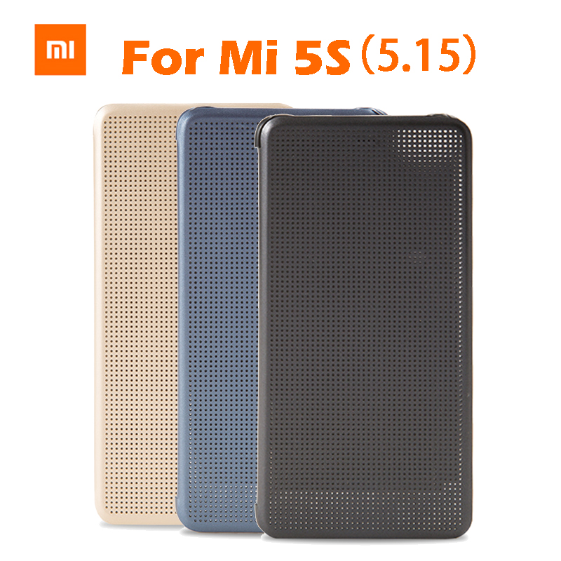 the best attitude 6c1aa 25c02 US $18.99 |Original Xiaomi MI5s M5s Smartwake Flip Cover Case Leather  Protective Cover PC+PU For Xiaomi MI5S MI5S Inch 5.15 Retail Box-in Flip  Cases ...