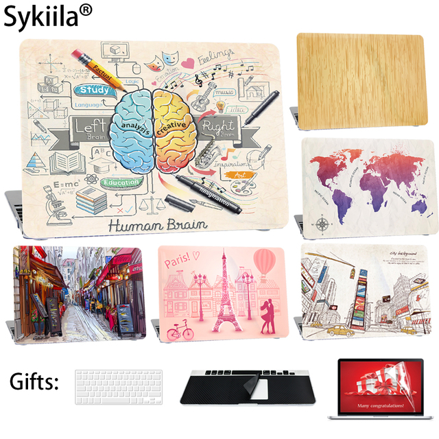 Star Case For Macbook Air 13 Case 11 Pro 13 15 12 Retina Left Brain Hard Touch Wood Protect Cover Paint Safety Shell Laptop Bag