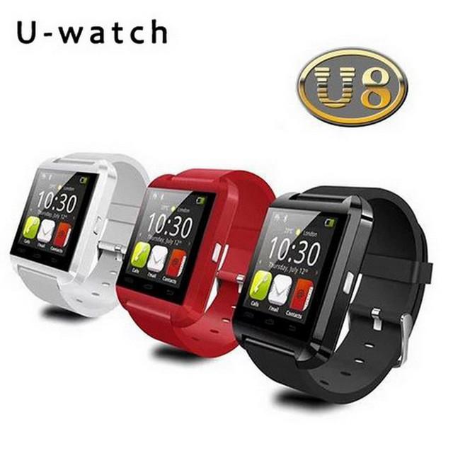 Design de moda do bluetooth smartwatch u8 com tela de toque função passometer atender e discar o telefone mãos livres smart watch