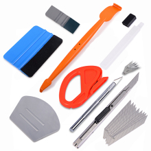FOSHIO Vinyl Car Film Wrap Magnet Squeegee Carbon Fiber Cutter Knife Set Sticker Wrapping Tool Window Tint Accessories