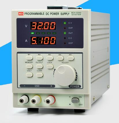 Fast arrival  MCH3205D 4-digit display programmable DC power supply 32V5A adjustable DC power supply mystery mch 1025
