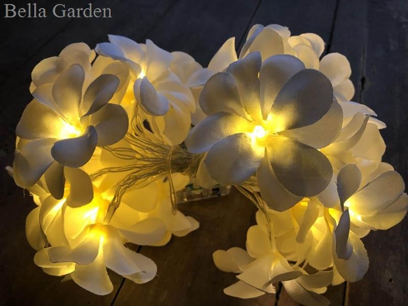Creative DIY frangipani LED String Lights Batteri blommig semester - Festlig belysning - Foto 2