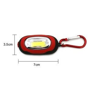 Image 5 - Портативный мини брелок фонарик, 4 шт., 3 режима, ручной светодиодный светильник COB для наружного использования с аккумулятором CR 2032 для кемпинга, палатки, рыбалки
