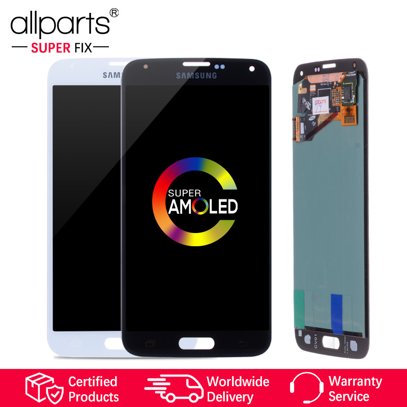 5.1'' Original AMOLED LCD For SAMSUNG S5 LCD Touch Screen For SAMSUNG Galaxy S5 LCD Display Screen S5 i9600 G900 LCD Parts